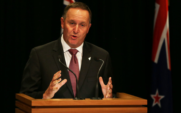 John Key at post cabinet press conference.