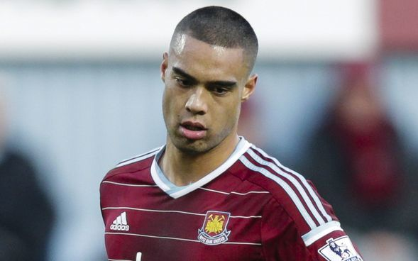 Winston Reid in action for West Ham United.