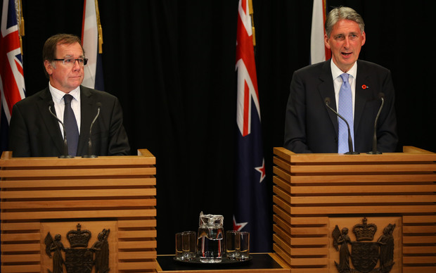 Foreign Minister Murray McCully and British Foreign Secretary Philip Hammond