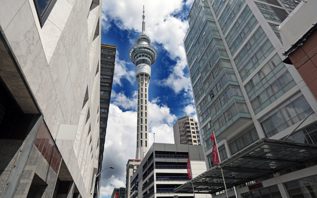 Sky Tower. Auckland CBD
