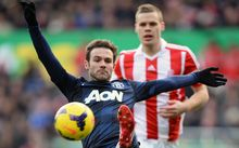 Juan Mata of Manchester United in action.