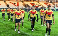 PNG players at the Rugby League World Cup.