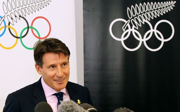 Lord Sebastian Coe speaking at an event in Auckland.
