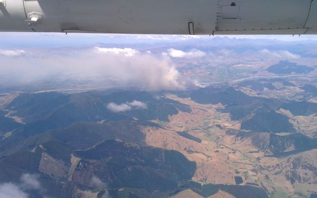 The Marlborough fire, from above.