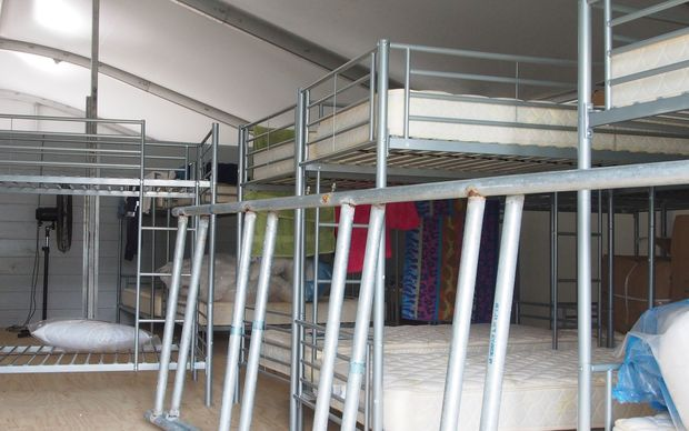 Bunk beds at the Manus Island asylum seeker detention centre, Papua New Guinea
