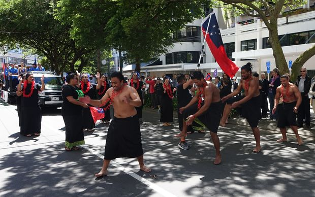 Samoan dancers during the Wellington parade.