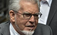 Veteran entertainer Rolf Harris arrives at Southwark Crown Court in central London on July 4, 2014.