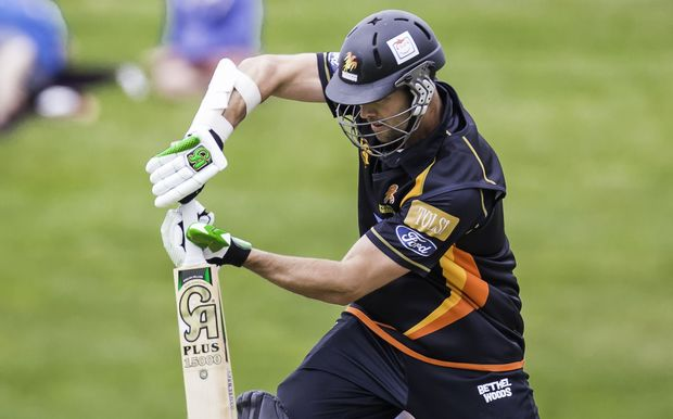 James Franklin bats for Wellington in the Ford Trophy