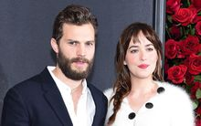 Fifty Shades Of Grey stars Jamie Dornan (L) and Dakota Johnson