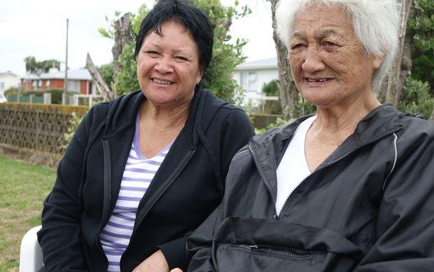 Dalvanius Prime's sister Barletta Prime (left) and sister-in-law Pauline Prime, share stories about performing Poi E in the Patea Maori Club.