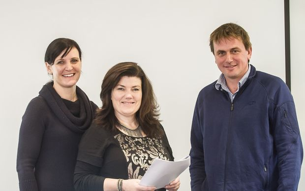 From left: UYFB facilitator Justine Kidd, AWDT executive director Lindy Nelson and facilitator Sam Orsborn at one of the UYFB pilot programmes held in 2014.