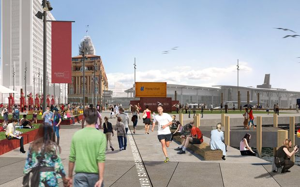 The revamp of the wharves includes new public space on Queens Wharf.