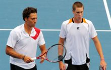 Marcus Daniell and Artem Sitak on Davis Cup duty