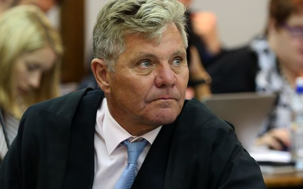Mark Lundy's lawyer Ross Burns, pictured in court on Monday 9 February.