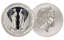 Both sides of the new ANZAC commemorative coin