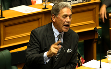 New Zealand First leader Winston Peters giving his opening speech for 2015.