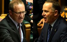 Labour leader Andrew Little (left) and Prime Minister John Key (right)