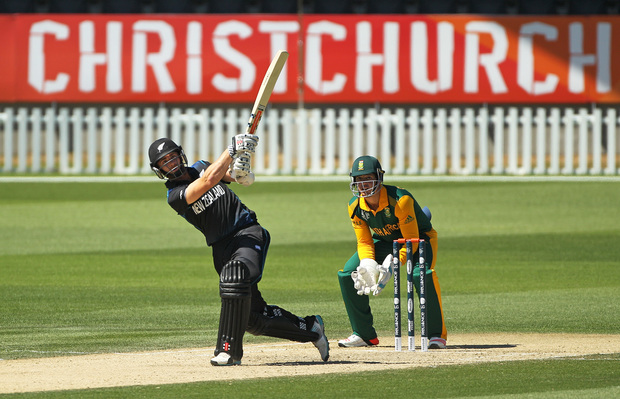 Black Caps batsman Kane Williamson hits a big shot against South Africa. a6dbda8b8