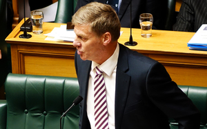 Finance Minister Bill English in question time.