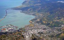 Aerial view of Nelson City