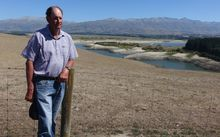 South Canterbury farmer David Williams on his property where Nathan Guy announced an official drought