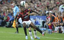 Phoenix signing Kwabena Appiah in action for his old club Western Sydney