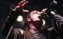Singer Dani Filth of Cradle of Filth performs in New York City in November 2007.