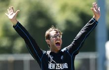 Dan Vettori took three wickets against Scotland.