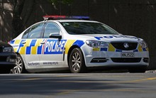 Police car in Auckland.