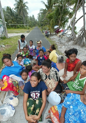 Tuvalu women and children