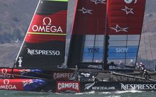 Emirates Team New Zealand battled it out against Oracle Team USA in San Francisco in 2013, but lost the series.