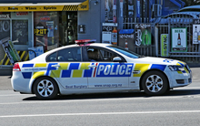 Police officers in Auckland