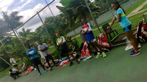 Tennis players from the Pacific Oceania Regional Training Centre in Lautoka.