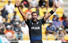 The Black Caps' Tim Southee during the match against England in Wellington.