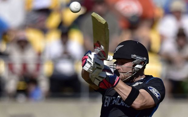 Brendon McCullum during the match in Wellington against England.