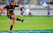 Aaron Cruden kicked a penalty on the stroke of fulltime give the Chiefs victory.