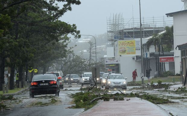 The aftermath of Tropical Cyclone Marcia in Yeppoon, Queensland.