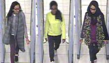 CCTV captured the girls passing through security at Gatwick Airport.