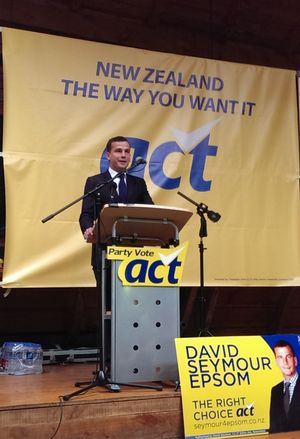 David Seymour addressing the ACT Party conference.