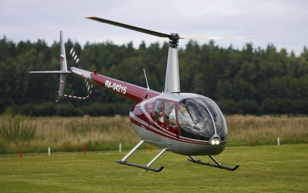 A Robinson R44 helicopter