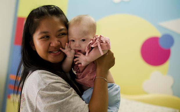 A file photo of Thai surrogate mother Pattaramon Chanbua holding her baby Gammy, born with Down Syndrome.