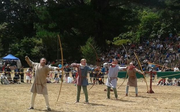 archery at the jousting tournament in Upper Hutt.