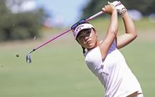 Lydia Ko at the Australian Golf Open.