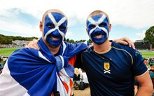 Scotland fans at Hagley Oval