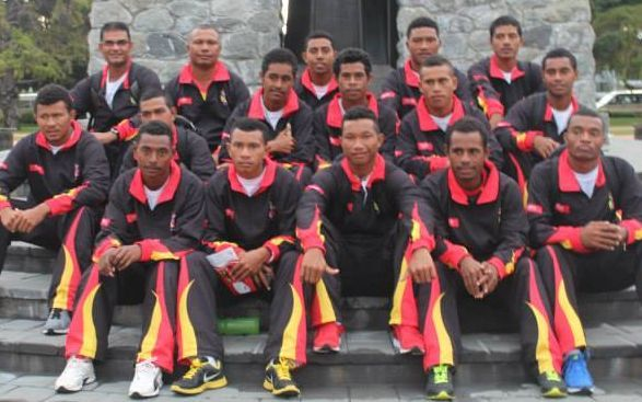 The PNG Garamuts in Blenheim for the EAP Under 19 Cricket Trophy.