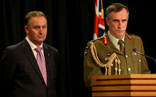 Tim Keating (right) John Key (left).