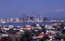 View of Auckland city from Devonport.