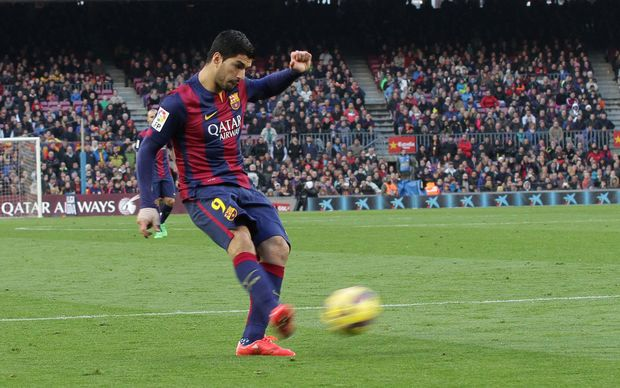 Barcelona football player Luis Suarez