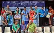Participants gather at the opening of the China and the Pacific conference at the National University of Samoa