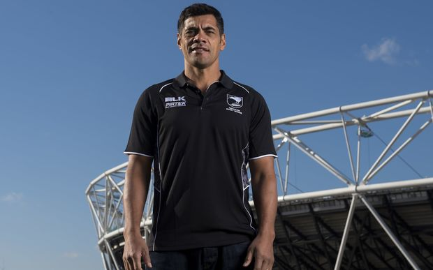 Kiwis coach Stephen Kearney outside London's Olympic Stadium